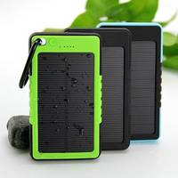 2016 Popullar Cheap Waterproof Solar Panel Battery Charger Power Bank 8000mA 5