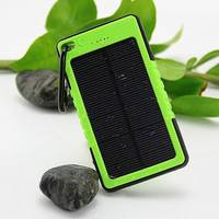 2016 Popullar Cheap Waterproof Solar Panel Battery Charger Power Bank 8000mA 6