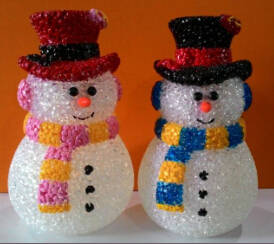 Wholesale button cell: EVA&LED Christmas decorative lights,Valentine Snowman with Button-cell,xmas lights