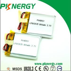 Wholesale tool box/package: Small Lipo Battery Rechargeable 803035 3.7V 800mAh Lithium Polymer Batteries Cell MP3