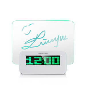 Wholesale message board: Blue/Green Backlight Message Board Alarm Clock/Memo Clock/Memo Alarm Clock