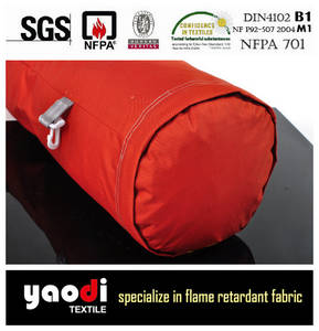 Wholesale sheer curtain: 100% Ployester Flame Retardant Breathable Fabric for Air Duct
