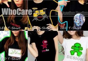 Wholesale battery pack: LED Flash T-shirt