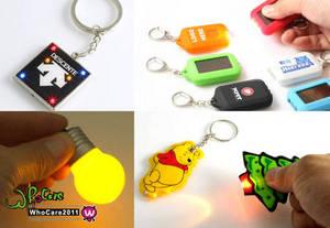 Wholesale Key Chains: LED Promotion Solar LED Keychain