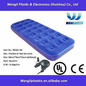 Wholesale bed sheets twin: Single Size Inflatable PVC Travel Air Bed Mattress