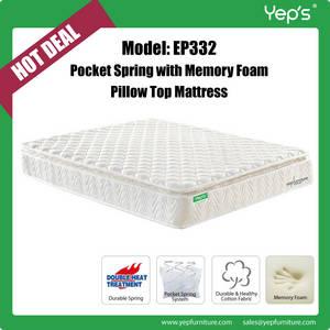 Wholesale memory foam pillow: Pocket Spring with Memory Foam Pillow Top Mattress
