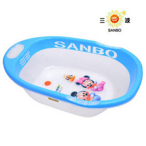 Wholesale Nursery Furniture & Decor: Plastic PP Large Baby Bathtub Shower Tub 003