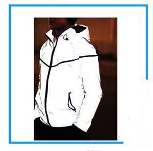 Wholesale windbreaker jacket: Hot Hip Hop Running Windbreaker Outdoor Jacket,BLANK LOGO 3M Reflective Rain Jacket Men