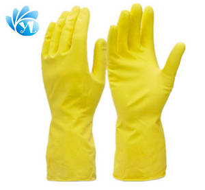 Wholesale Household Gloves: Household Clean Rubber Dish Washing Gloves,Yellow Clean Latex Gloves