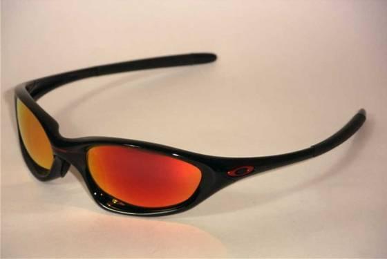 oakley xx  oakley sunglasses twenty xx jet black /ruby lens 12 580 image