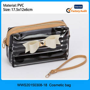 Wholesale pvc cosmetic bag: 2015 Clear PVC Cosmetic Bag
