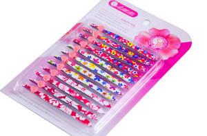 Wholesale pedicure set: 12PCS of New Design Popular Bliser Card Package Beauty Kit Designs Coating Tweezers Set
