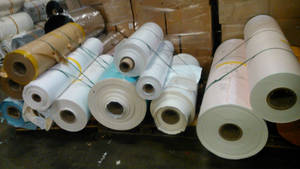 Wholesale coated paper: White/Yellow Silicone Coated Release Paper/ Jumbo Roll Siliconized Paper