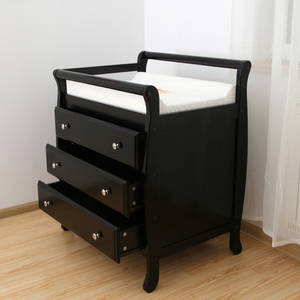 Wholesale drawer runners: Wooden Baby Sleigh Change Table