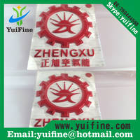 Customizied Soft 3D Plastic PVC Silver/Gold Label,3D Flexible Plastic Self Adhesive Sticker,PVC Logo