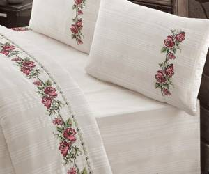 Wholesale handmade pillow: Naturel Duvet Set Bedding Set Cross-stitch, Handmade