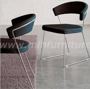 Wholesale lounge: Modern Simple Style PU Leather Lounge Cafe Chair Www.Mihfurniture.Com