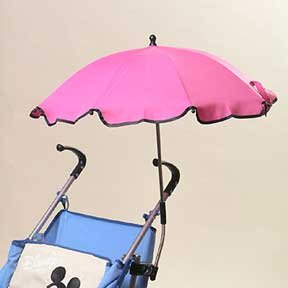 Lovely Pink Hand Free Baby Stroller Sun Umbrella for Sale(id ...