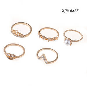 Wholesale gold set: Twist Shape Gold Ring Set, Delicate Accessories