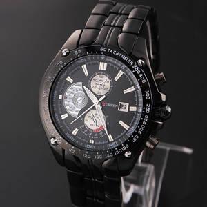 Wholesale quartz watch: CURREN 8083 Mens Watches Quartz Watch Mens Hour Date Clock Waist Watch