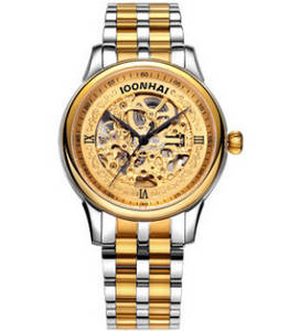 Wholesale mechanical watches: New Design Full Skeleton Men Self Wind Mechanical Watches Retail Accept