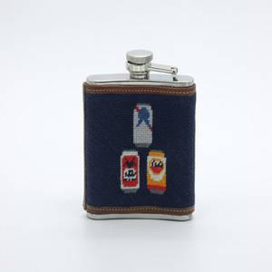 Wholesale Flasks: Stainless Steel Needlepoint Flask