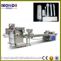 Napkin Toothpick Feeder Plastic Cutlery Pillow Packaging Machine Cheap Price