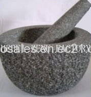 Wholesale Kitchen Tool Sets: 100% Natural Granite Mortar Pestle with Dotted Surface for Kitchenware