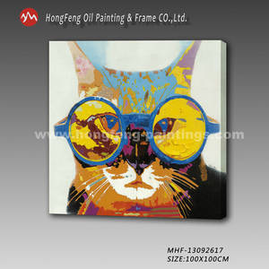Wholesale oil painting: [Edit] 2017 High Quality Wholesale Abstract Animal Handmade Oil Painting for Wall Decoration