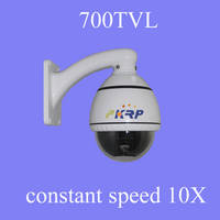 Sell Indoor 700TVL 10X ZOOM PTZ constant speed dome camera
