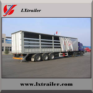 Wholesale flatbed side curtain: 3 Axles 45Tons Flatbed Side Curtain Semi Trailer