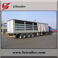 3 Axles 45Tons Flatbed Side Curtain Semi Trailer