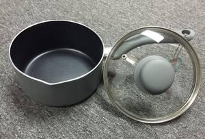 Wholesale Saucepans: Non-stick Stamping Aluminum Sauce Pan with Lid