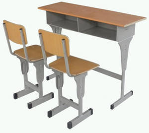 Wholesale School Furniture: Cheap Double Student Desk with Chair Factory Sale