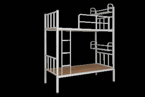 Wholesale bunk bed: Iron Double Decker Bunk Bed with Bookrack