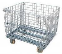 Foldable Huge Metal Wire Mesh Roll Containers