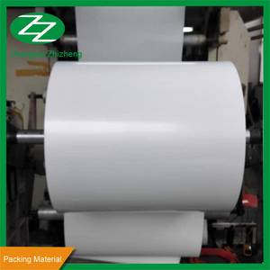 Wholesale coated paper: Glossy Coating Non Tearable PP Synthetic Paper for Self Adhesive Wrapping Paper