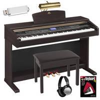 Yamaha Arius YDPV240 88-Key Digital Piano Bundle