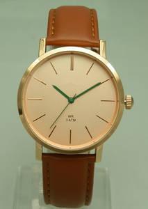 Wholesale quartz watch: Japan Movt Quartz Watch, Stainless Steel Back Watches Men, Slim Case Watch