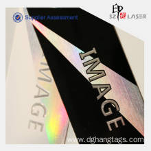 Wholesale security tags for clothing: 300g Holographic Custom Security Hang Tags Printing