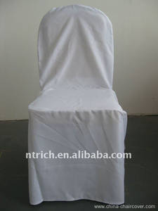 Wholesale chair cover: White Colour Standard Banquet Chair Cover Pattern,CTV549