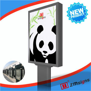 Wholesale message board: ZM-107 Outdoor Scrolling Light Box LED Advertising Lightbox Message Board