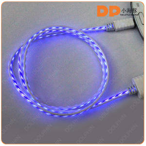 Wholesale Cables: Wholesale EL Wire Glowing USB Cable Visible Flowing Light Sync Data Cable