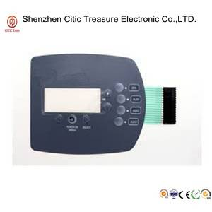 Wholesale transparent mask: Digital PC  PVC  PET Membrane Switch Keyboard with Multiple PIN Connector