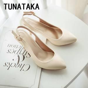 Wholesale footwear: Women Patent Leather Pointed Toe Pumps Medium Heel Shoes Woman Comfy Slip On Footwear Plus Size Beig