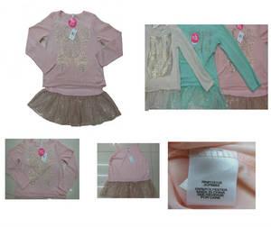 Wholesale rhinestone: Children Girl's Fashion Rhinestone Decorated Shirt and Camisole Two Peice Set