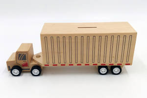 Wholesale wooden box: Wooden Toy Money Box-container