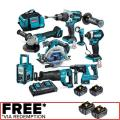 Makita 18V Brushless 8 Piece 2 X 5.0Ah Combo Kit DLX8016PT  WHATSAPP CHAT: + 1 707 722 7128
