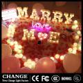 Night Lamp LED Letters Lights for Christmas Birthday Wedding Party Wedding Bedroom Wall Hanging Deco