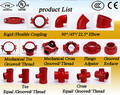 FM/UL/CE Ductile Iron Grooved Fittings for Fire Protection System